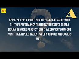 is benjamin moore paint low voc youtube