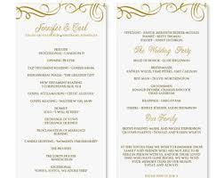 Elegant Wedding Program Free Wedding Program Templates Microsoft Word Pacq Co