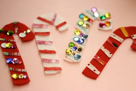 Christmas Candy Craft - 101 days of christmas fabric scrap candy cane banner life your way