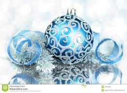 light blue ornaments happy holidays
