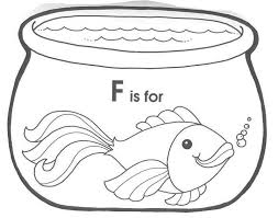 fish bowl coloring page get coloring pages