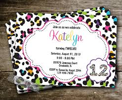 leopard print party invitations simple sample resume format making