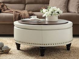 Leather And Wood Coffee Table Coffee Table Excellent Square Leather Ottoman Coffee Table High