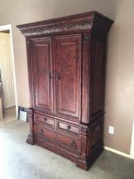 Entertainment Armoire With Pocket Doors Media Armoire Ebay