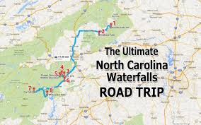 map trip ultimate carolina waterfall road trip map