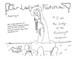 our lady of fatima coloring page u2014 saintly seasons