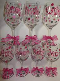 wine glass party favor 12 personalized wine glasses great for the wedding party shower