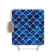 Shower Curtains With Fish Theme Blue Moroccan Fish Scale Waterproof Shower Curtain Mildew