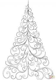 trees coloring pages swirly tree page