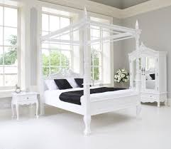 white 4 poster bed queen stock photo white four white 4 poster