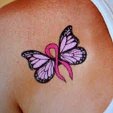 collection of 25 pink cancer ribbon butterfly for