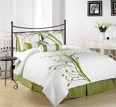 Green Master Bedroom by White And Green Modern Bedroom Comforter Sets Decoration