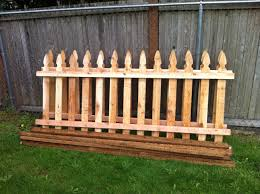 picket garden fence home depot home outdoor decoration