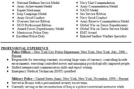 Military Police Resume Examples by Police Sgt Resume Examples Reentrycorps