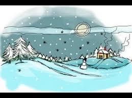 draw winter scene