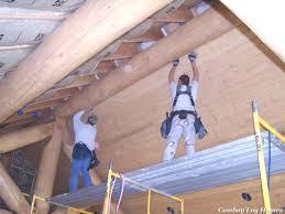 tongue u0026 groove ceilings cowboy log homes