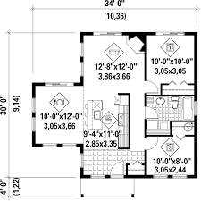 contemporary style house plan 2 beds 1 00 baths 850 sq ft plan