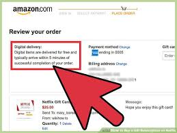 order gift cards how to buy a gift subscription on netflix with pictures