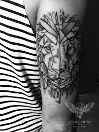 roaring lion crown tattoo on biceps real photo pictures images