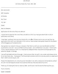 security advisor cover letter example u2013 cover letters and cv examples