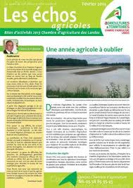 chambre agriculture landes calaméo bilan d activités 2013 chambre d agriculture des landes