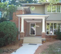 craftsman style portico porch covered entryway w tapered