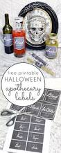 five minute friday printable halloween apothecary labels blue i