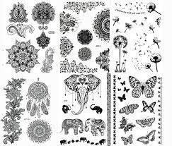 amazon com black henna paints temporary designs