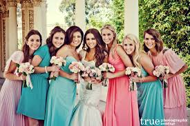 colored bridesmaid dresses mix matched and multi colored bridesmaid dresses from our
