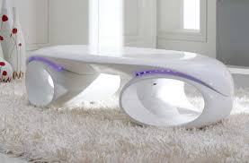Coffee Tables With Led Lights Glossy White Coffee Table With Led Lights Vg74 Contemporary