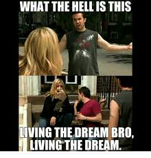 Dream Meme - what the hell is this living the dream bro living the dream meme