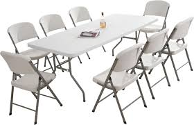 plastic table with chairs plastic folding table and chairs premium plastic folding chairs