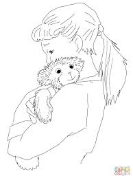 lisa hugging corduroy coloring page free printable coloring pages