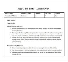 doc 585581 sample physical education lesson plan template