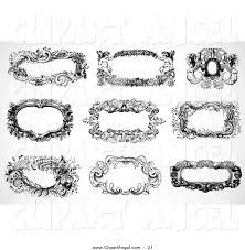 illustration vector of a digital set of nine black and white