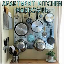 kitchen pegboard ideas apartment kitchen makeover the decor guru