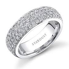all diamond ring cast in 18k white gold this stunning custom diamond wedding ring