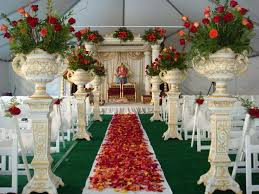decoration flowers indian theme artificial flower decoration in ca statues