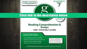 download pdf reading comprehension essays gre strategy guide