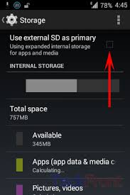 android dialer storage how to use the external sd card as primary storage in android 4 4
