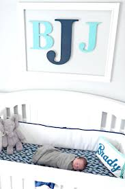 Monogram Wall Decals For Nursery Initial Monogram Wall Decals Nursery Decor For Boys Monogram Wall