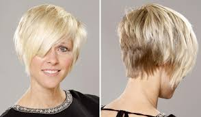hair that is asymetric in back short hair asymmetrical hair style and color for woman