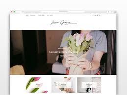 Home Goods Design Happy Blog by Lucie Grasso Wordpress Blog Theme Wordpress Blog Themes
