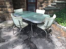 vintage table and chairs green formica and chrome retro kitchen table and chairs attainable