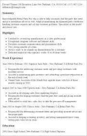Resume Sample For Retail Sales by Professional Retail Parts Pro Templates To Showcase Your Talent