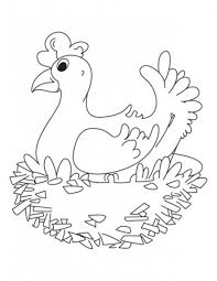 hen farm animals coloring pages animal coloring pages of