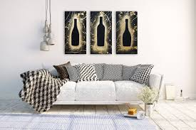 wine custom original painting set of three modern