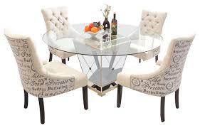 glass dining room sets modern kitchen dinette sets with stylish kitchens dining room