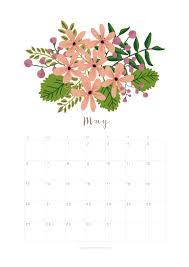 printable may 2018 calendar monthly planner flower design a
