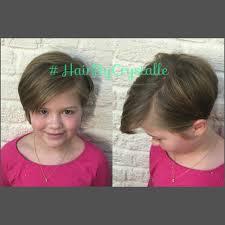 cute girls haircut undercut veil kids cut hair by
